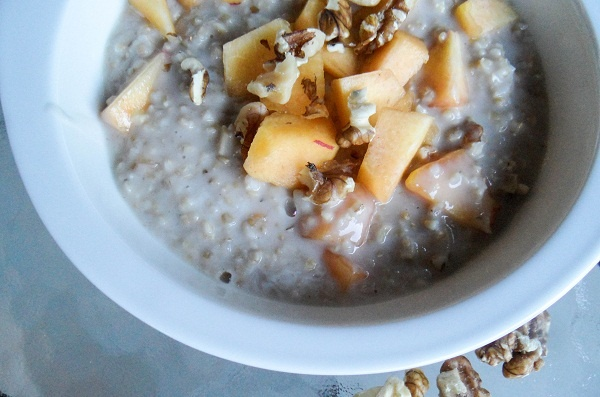 Peaches & Coconut Cream Steel Cut Oatmeal with Bob's Red Mill oats!