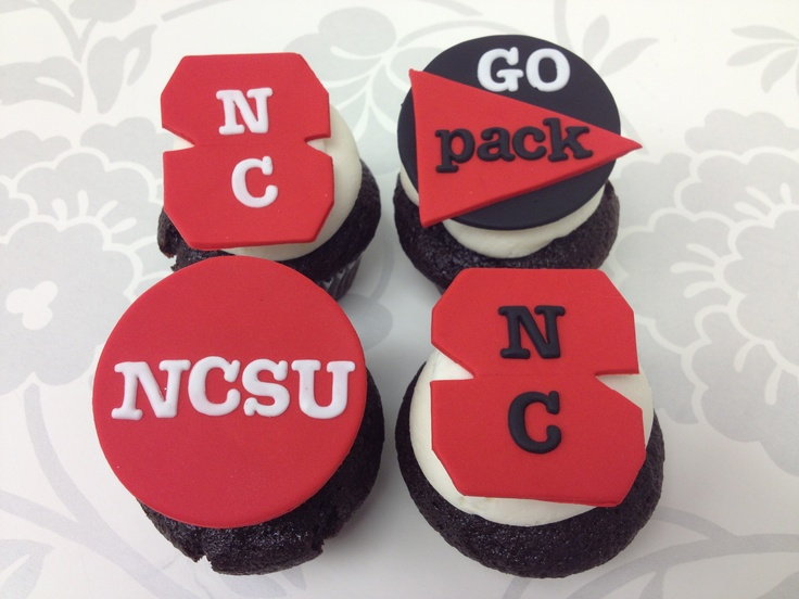 NC State Tailgating Cupcakes from The Cupcake Shoppe in Raleigh