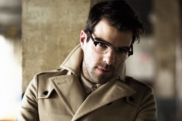 Zachary Quinto, love the jacket and the glasses
