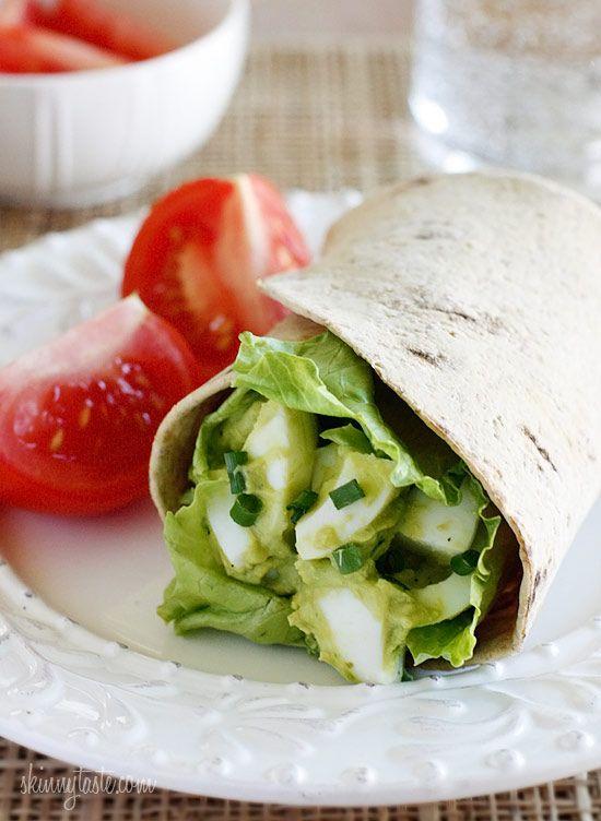 Avocado egg salad. Yum. :)