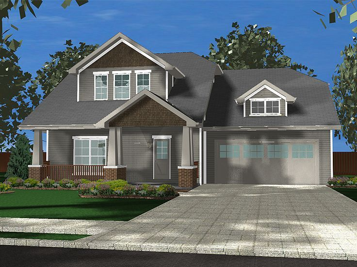 Don t like garage out front off center porch entry dull colors or
