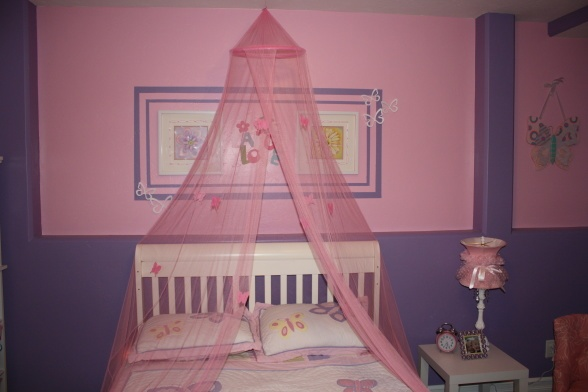 pink and purple girls room For the Home