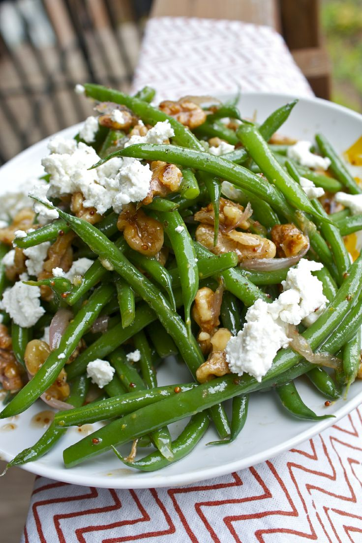 haricot vert salad with goat cheese | eatin burnt suppers the whole f ...