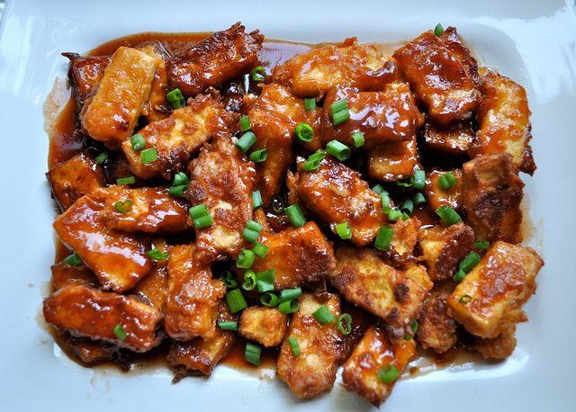 crispy barbecued tofu