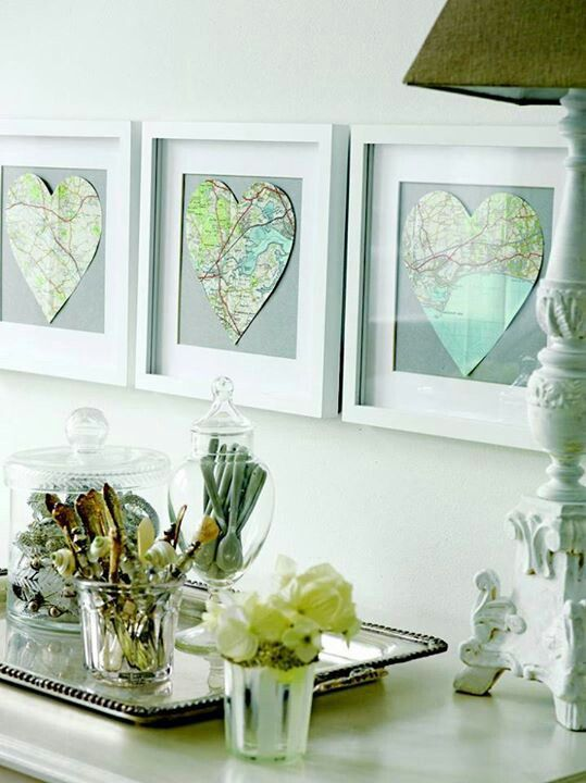 Old maps or google one then print it home ideas and for Diy map wall art