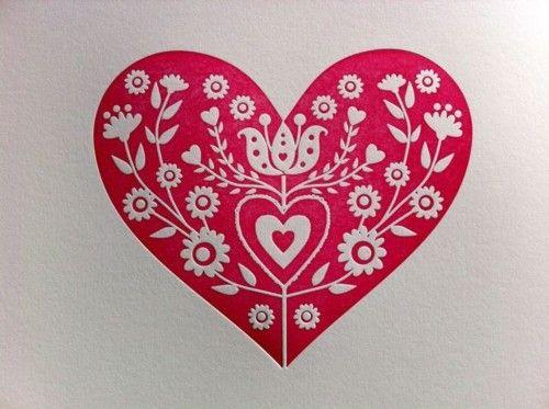 .Pretty red heart.