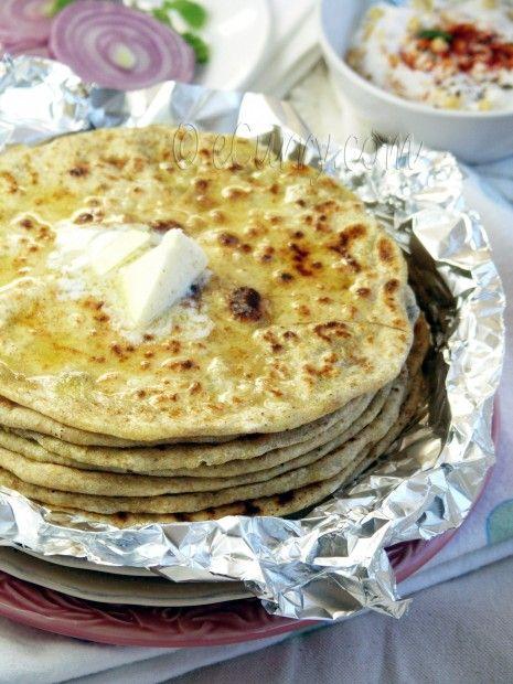 Potato Stuffed Flatbread - Aloo Paratha | Meals | Pinterest