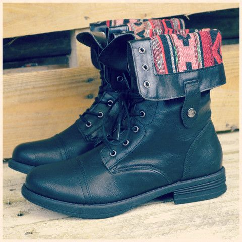 Black Fold Over Combat Boots Pictures to Pin on Pinterest - PinsDaddy