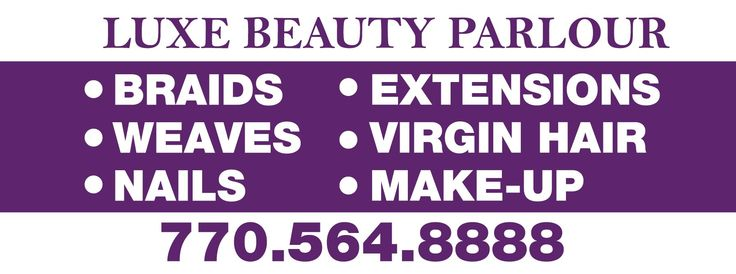 LUXE BEAUTY PARLOUR Banner 3072   sign11.com
