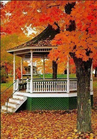 Gazebo in the fall | Chill of an Early Fall | Pinterest