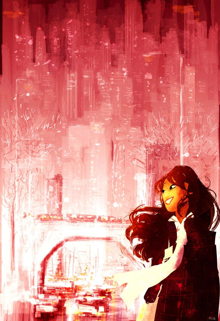 In the  Big City #pascalcampionart Originally, this was done for a new year's card, but it wasn't used in the end..Happy new year 2014.
