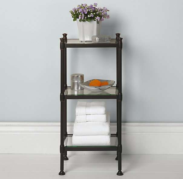 Newbury small tag re home life for city livin 39 pinterest for Small bathroom etagere
