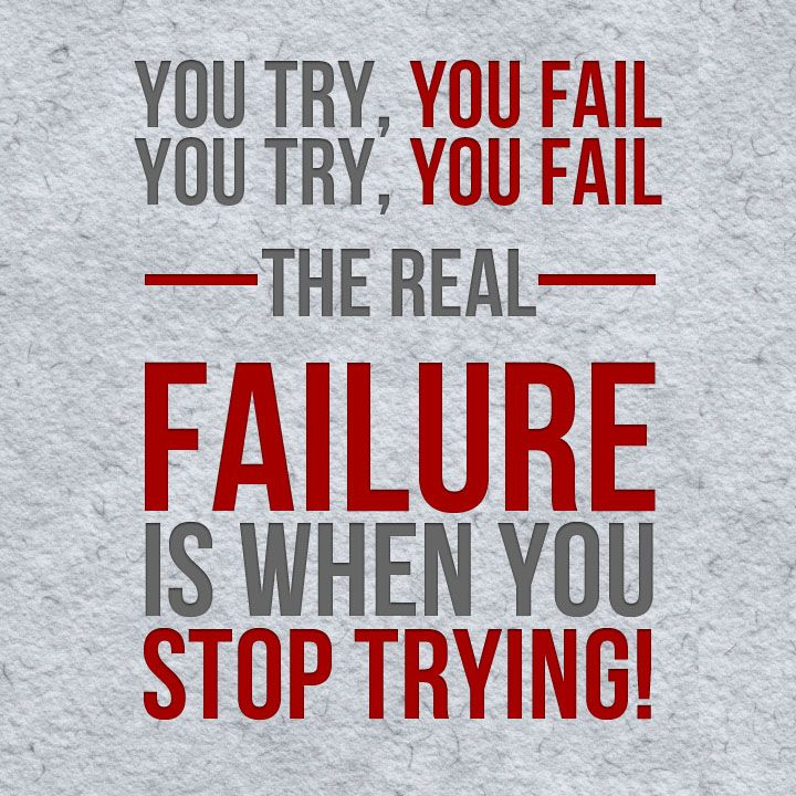 keep on trying!