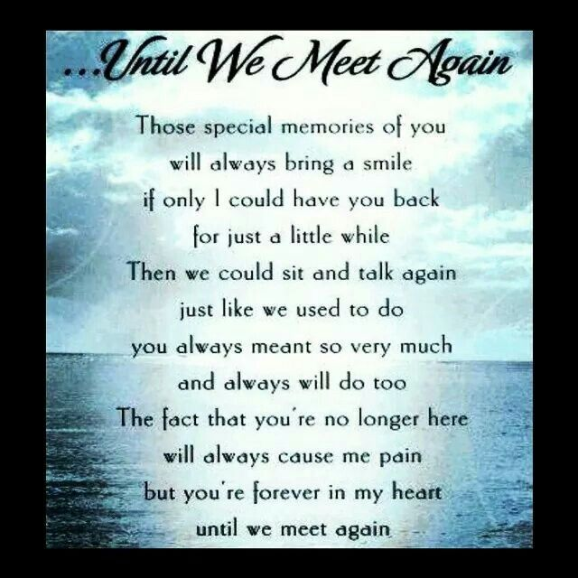 Pinned by Anita ColeenUntil We Meet Again Poems