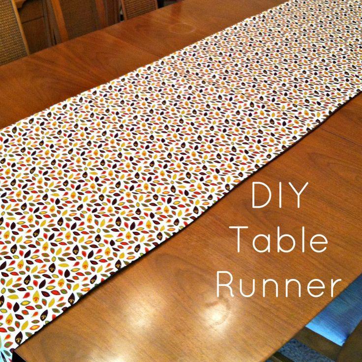 Diy table runner be merry kate diy pinterest for Easy diy table runner