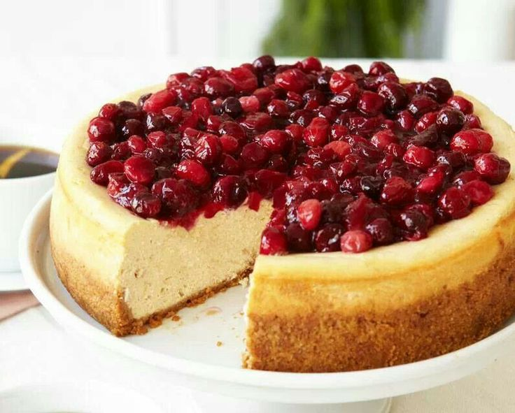 Cranberry cheesecake | Yummy favorites and new ideas... | Pinterest