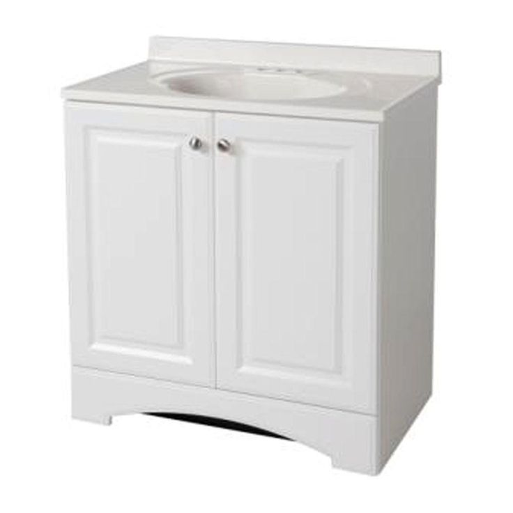 glacier bay 30 1 2 in vanity in white with ab engineered