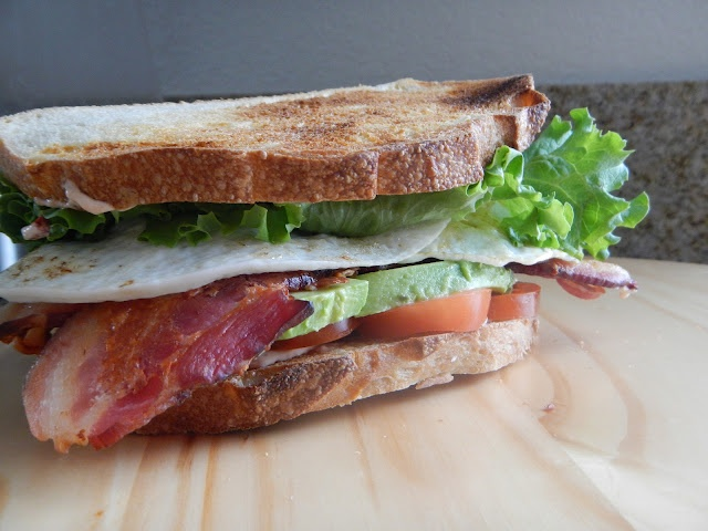 BLT with Avo, Fried Eggs and Chipotle Mayo