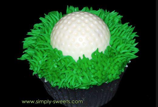 Cute golf cupcakes