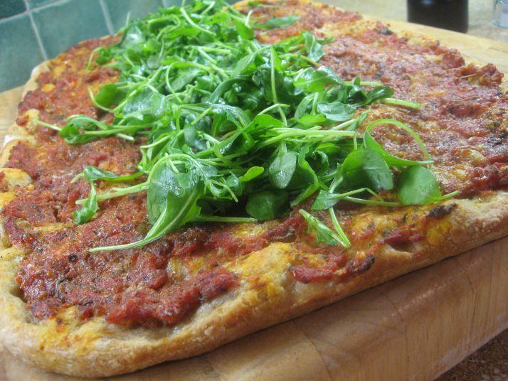 ... arugula mozzarella tomato on focaccia arugula pizza arugula tomato