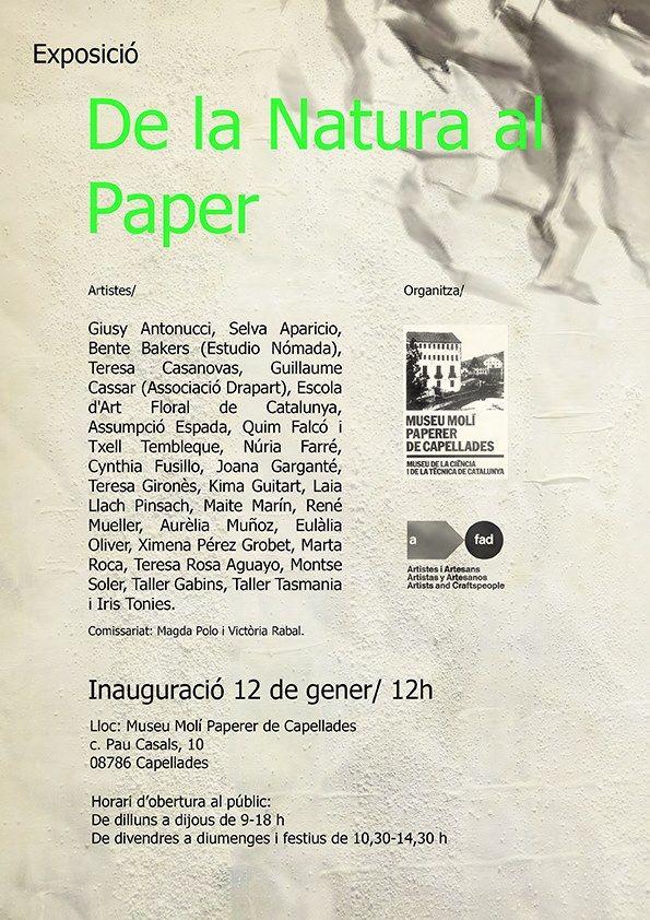"""""""De la natura al paper"""" Exhibition at Museu Molí Paperer de Capellades (Catalonia) http://www.mmp-capellades.net/"""