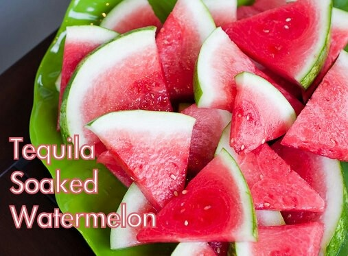 Tequila soaked watermelon... watermelon wedges,1c sugar,3/4 c water,1 ...
