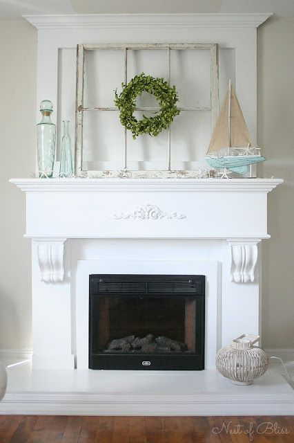 DIY Fireplace Makeover By Nest Of Bliss DIY Pinterest