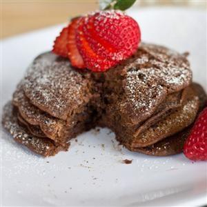 Brownie Batter Pancakes | nummies | Pinterest