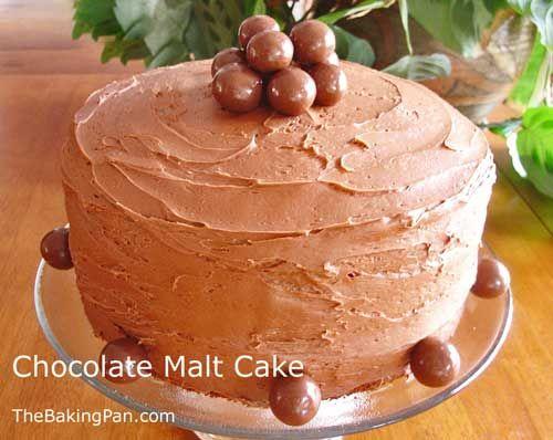 Chocolate Malt Cake Recipe from Paula Deen, this is amazing.