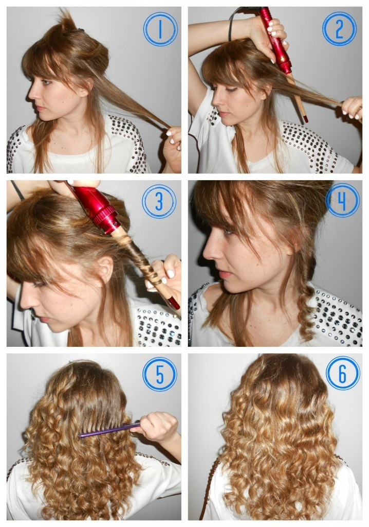curling wand tutorial | Hair tutorial | Pinterest