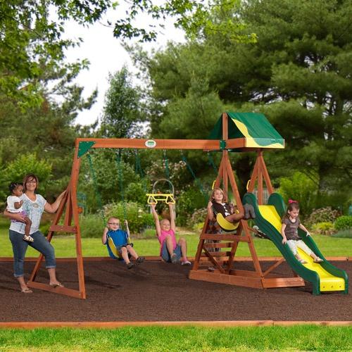 backyard discovery aspen cedar wooden swing set