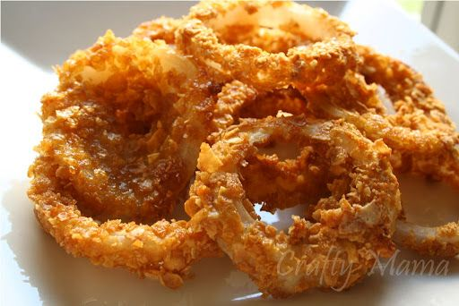 Baked onion rings, none of the fat of fried onion rings, but SO ...