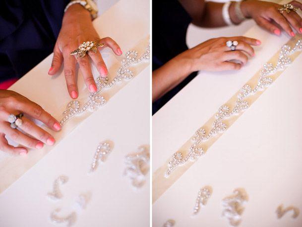 DIY Bridal Sash Wedding