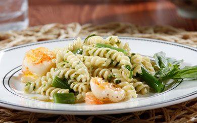 ... Barilla White Fiber Rotini with Arugula Pesto, Shrimp and Green Recipe