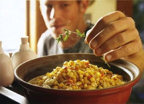 Corn with Chèvre and Red Peppers | Recipe