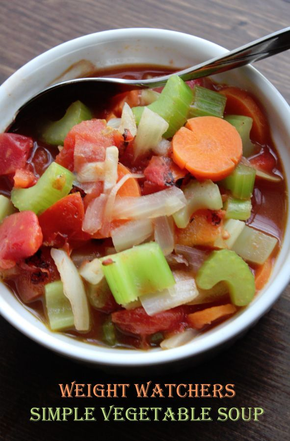 Weight Watchers Simple Vegetable Soup Recipe copy-It's great with all ...