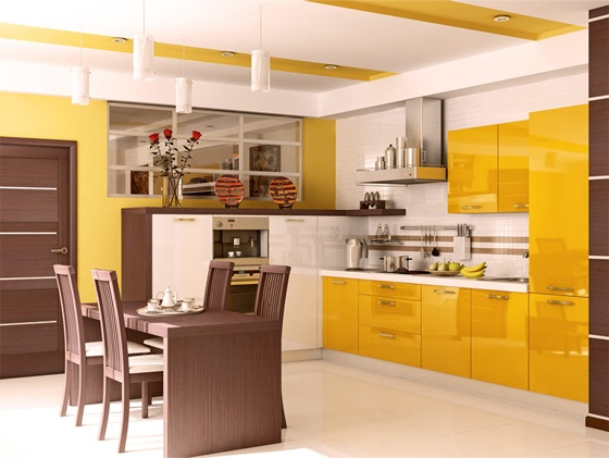 Kitchen Brown and mustard yellow  Home Ideas  Pinterest