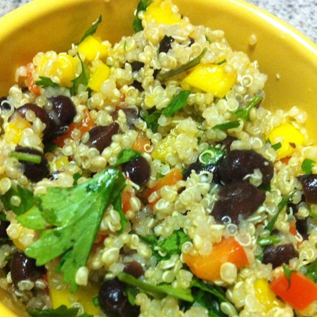 mango black bean and quinoa salad 2 quinoa mango and black bean salad ...
