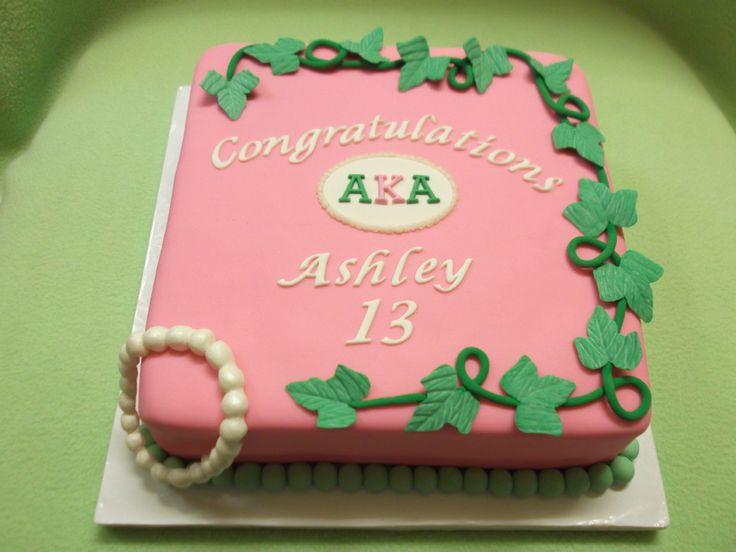 Aka Sorority Cakes