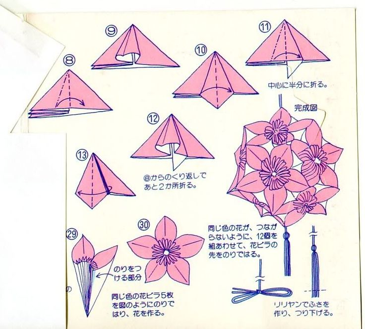 Easy origami kusudama flower folding instructions easy origami kusudama flower folding instructions mightylinksfo