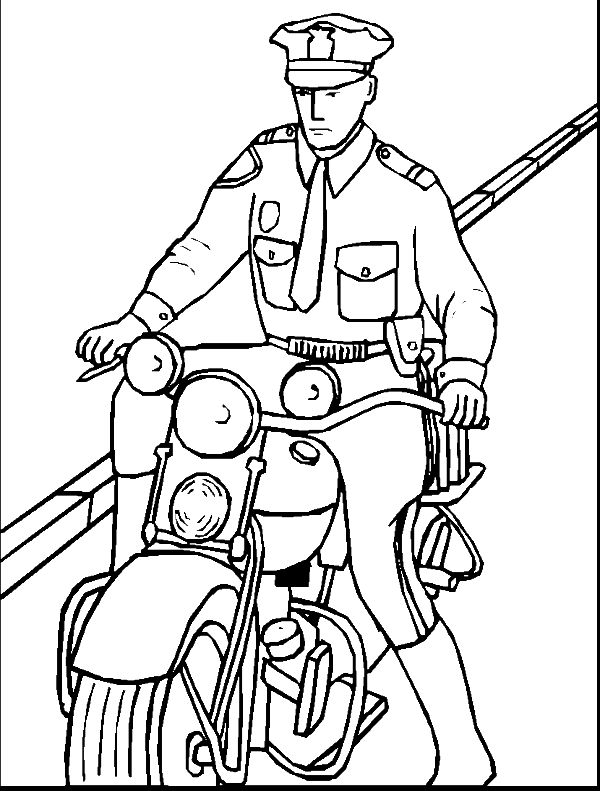 Police officer coloring book page coloring pages for Police officer coloring page