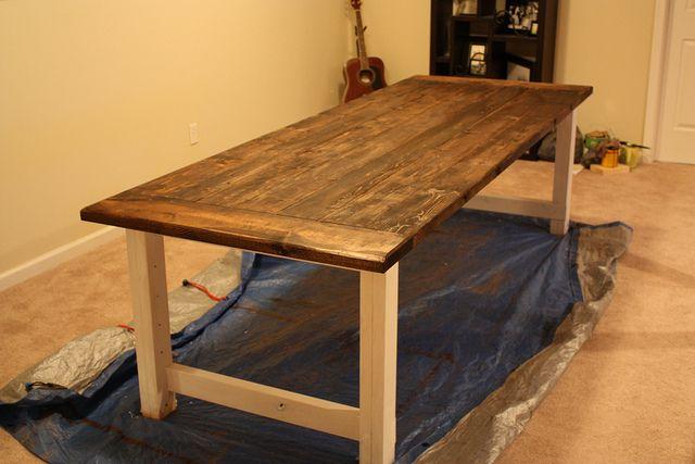Farmhouse Table DIY Pinterest