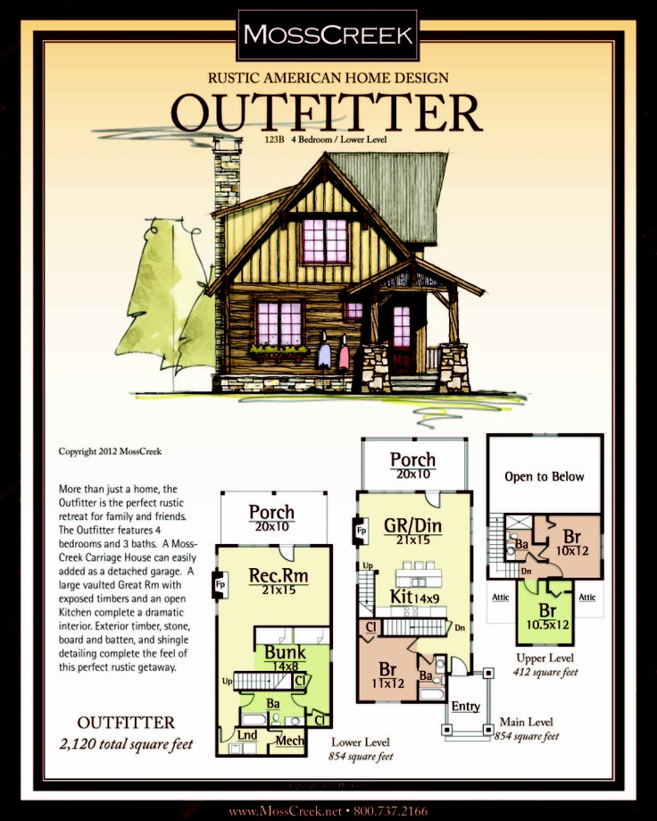 Pin by mosscreek on rustic home log home and timber for Rustic timber frame house plans