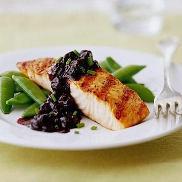 Grilled Salmon with Blueberry Sauce | In the kitchen | Pinterest