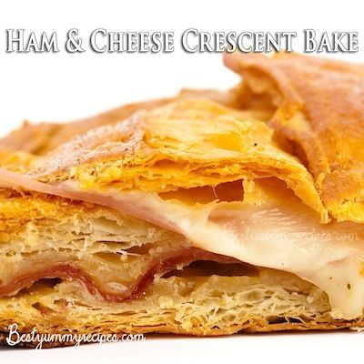 Ham and Cheese Crescent Bake | Recipes worth trying... | Pinterest