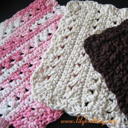 Crocheting Dishcloths For Beginners : Crochet Dishcloth Patterns for Beginners PATTERN - Crocheted ...