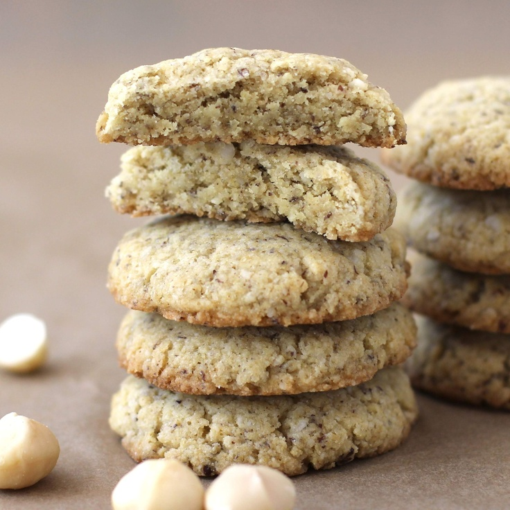 "White Chocolate"" Macadamia Shortbread Cookies (made without butter"