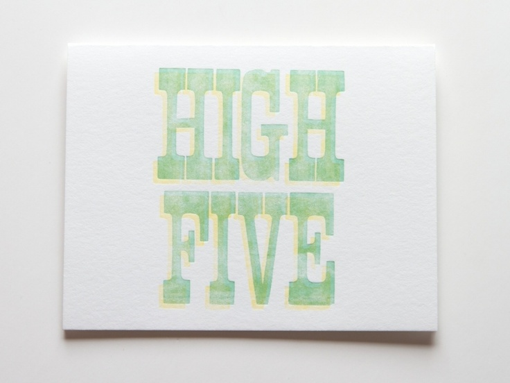 High Five! card from Iron Curtain Press | FP Boy Typography/words | P ...
