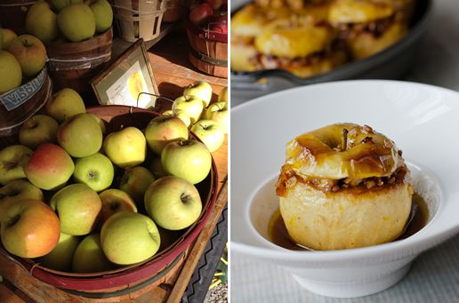 Baked Apples with Cider Rum Sauce