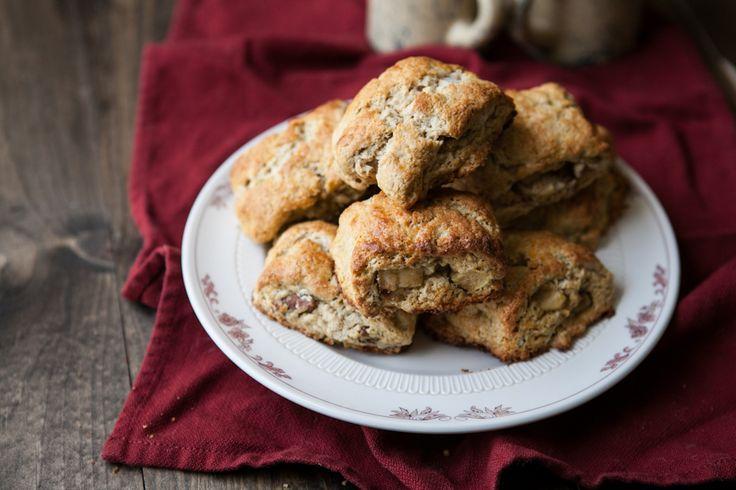 Apple-Pecan Whole Wheat Scones Recipe — Dishmaps